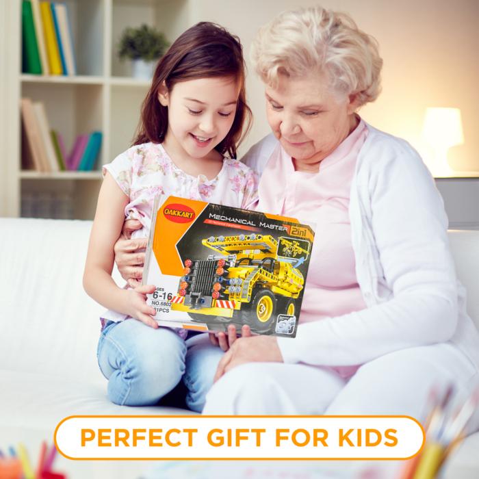 Oakkart Best Gift for Boys girls Birthday Easter, Chrismas, Stem Toys building set for Kids for age 8-12
